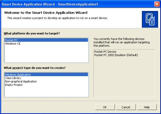 The Smart Device Application Wizard
