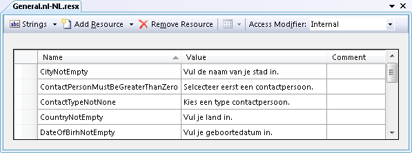 The Dutch Translations of the Resources