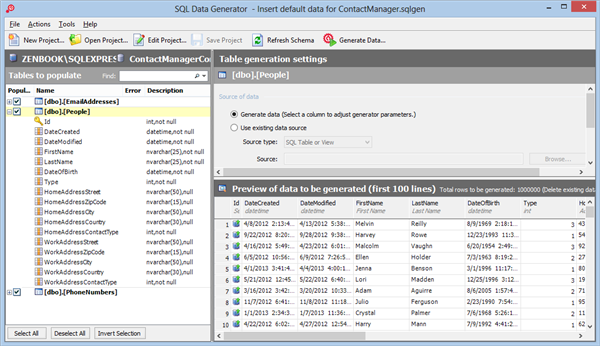 Red Gate's SQL Data Generator