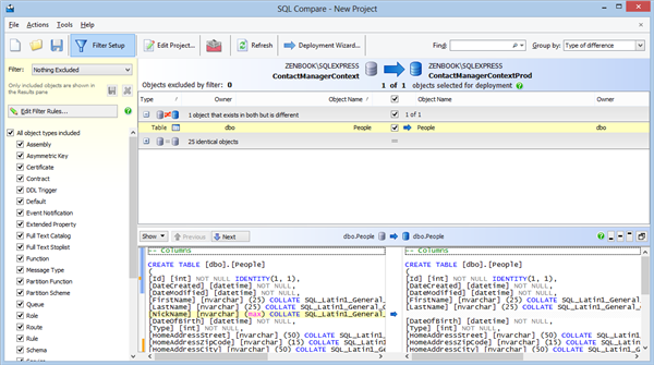 Red Gate SQL Compare – Results
