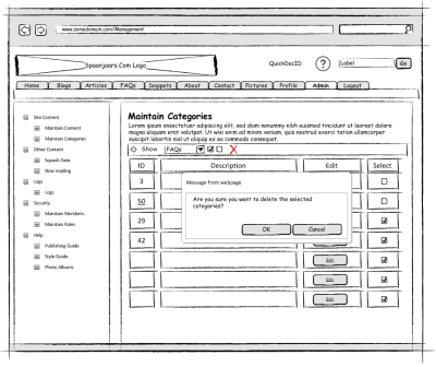 The Final Mockup in Microsoft Office Visio 2010
